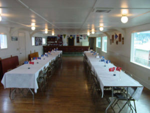Clubhouse with tables